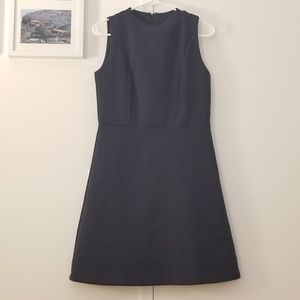 Patterned navy loft sheath dress